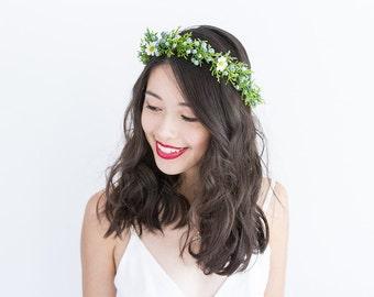 winter berry hair wreath (2) - wedding headpiece, headband, vintage inspired twiggy branch flower crown, festival, bridal, flower girl