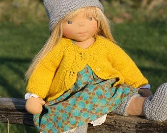 """Waldorf doll Kirsten 18"""" Gifts for Children birthday, OOAK dolls"""