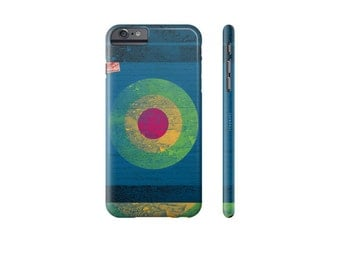 BLUE Phone Case, Designer iPhone Cases, iPhone 6 Case, Bullseye, iPhone 7 Cover, Samsung Galaxy s6 Case, Art Phone Cases, Gift for Guy.