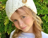 CROCHET PATTERN - Crochet Head Warmer - The Tristan Head Warmer, Toddler, Child, and Adult sizes