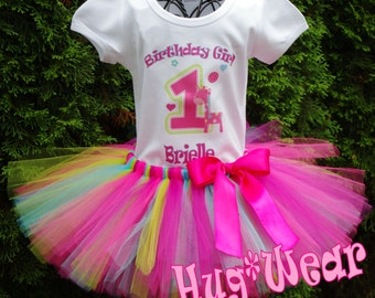 1st Birthday Shirt + Tutu Outfit (any age)  Fun to be One. Wild at One. Fun to Be One.