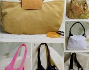 Butterick 4088  Lined Handbag, Purse, Shoulder Bag, Inside Pockets / Pocketbooks UNCUT