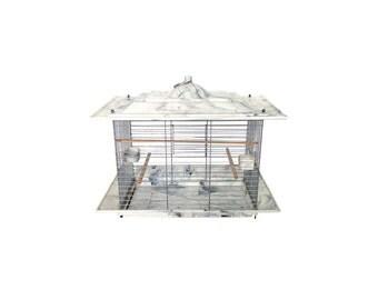 Mid Century Bakelite Bird Cage / Gray Marbled Bakelite