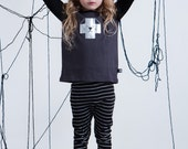 Cool Kids Long Sleeve Tshirt, Shirt for Boys and Girls, Black Shirt for Kids, Toddler Shirt, Monochrome Kids, Baby Tee, Winter or Autumn Tee