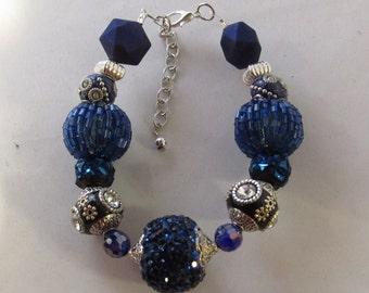 Dark Blue Beaded Bracelet