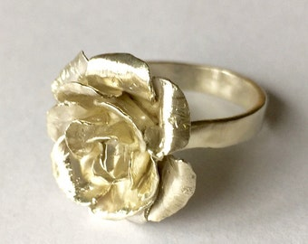 Hand Forged Rose Ring