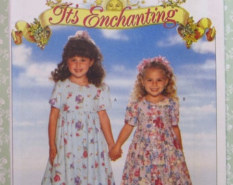 Easy to Sew Little Girls Dress and Pantaloons Sizes 5 6 6X UNCUT Butterick Pattern 4410 Vintage 1990's
