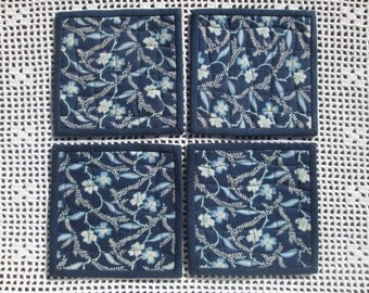 Quilted Fabric Coasters - Set of 4