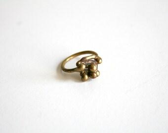 Brass Brutalist Ring 2.5