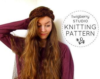 Turban Knitting PATTERN Cable Knit Headband Pattern Braided Knit Headband Pattern Cable Knit Turban Pattern Knit Turban Knitting Pattern