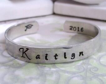 Graduation Bracelet - Graduation Jewelry - Graduation Cuff Bracelet - Graduation Gift - 2017 Graduation