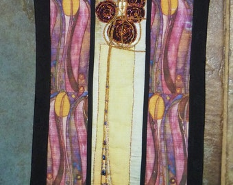 Charles Rennie Mackintosh inspired Willow Tea Room banner textile picture.