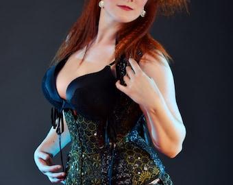 Under bust waistcoat asylum corset made to measure