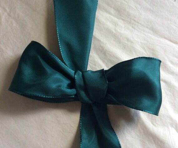 "Bottle Green Wired Taffeta Ribbon. 2 1/2""/6 cm wide. Sold by the metre"