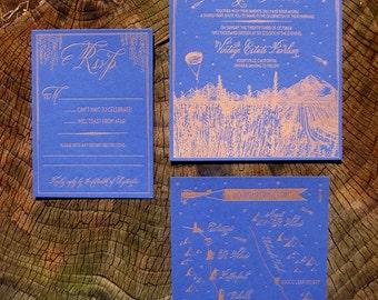 Twilight on the Vineyard Wedding Invitation Suite