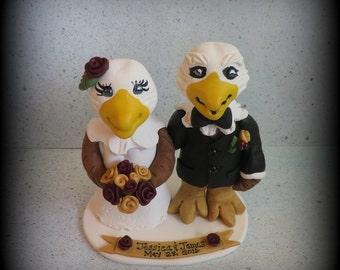 Wedding Cake Topper, Eagle, Eagle Wedding Cake Topper, Polymer Clay, Custom, Wedding/Anniversary Keepsake