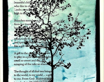 Tree Poetry Note Card for Any Occasion - Large 5x7 - Thinking of You - Friendship - Love - Encouragement - Congratulations