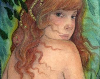 The Land of Myth....Original Art  Mixed Media Illustration