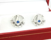 Masonic Cufflinks Sterling Silver