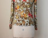 Mushroom Print Long Sleeved Shirt
