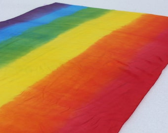 Bright Rainbow Striped Playsilks ~ Hand Dyed ~ Waldorf Inspired~ Silk Scarf