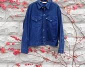 Levi's Denim Jacket, Levi's Jean Jacket, Vintage Levi's, Navy Blue Jacket, Vintage Levis, Snaps up, Made in USA, Mens Levis, Size 42, Levis