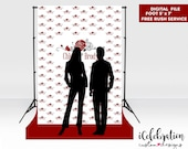 Photo Booth Backdrop Custom Step and Repeat Backdrop Banner Any Event/ Engagement/ Birthday/ Wedding/ Backdrop Red Carpet Digital File