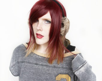 SALE Red wig | Straight Auburn wig with Blonde | Short wig | Scene Emo wig, Cosplay wig | Ruby Spice
