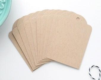Kraft Parcel Tags / Set of 10 Gift Tags / Wedding Favor Labels / Order Labels