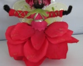 African Rose Garden Flower Fairy Doll