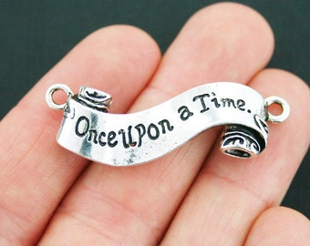 2 Once Upon a Time Connector Charms Antique Silver Tone - SC3788