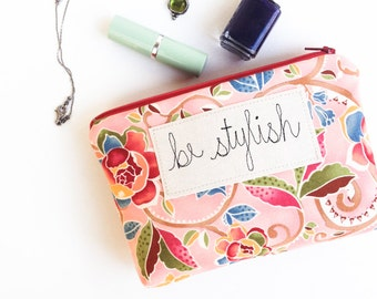 Sister Gift, Personalized Cosmetic Bag, Makeup Bag with Inspirational Quote, Sister in Law Gift, Gift under 50 READY TO SHIP