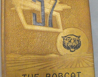 The Bobcat 1957 Yearbook, Corning, Arkansas, Vintage Yearbook, Autographed to Booby, Black and White Photos, Vintage Advertising, School