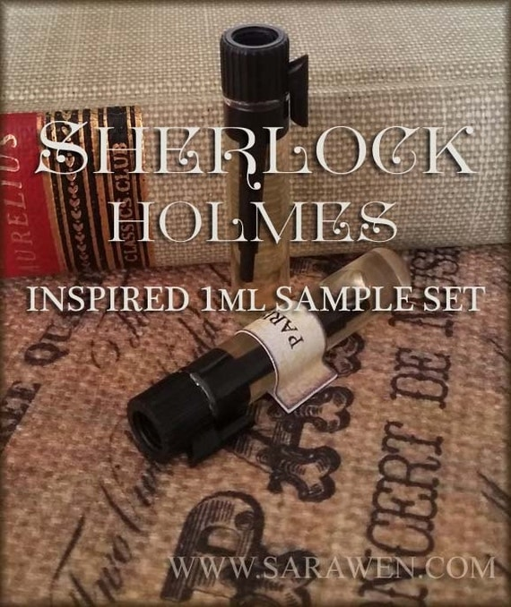 SHERLOCK HOLMES 1ml Perfume Samples / Inspired by Sherlock Holmes / victorian perfume / Vegan perfume oils