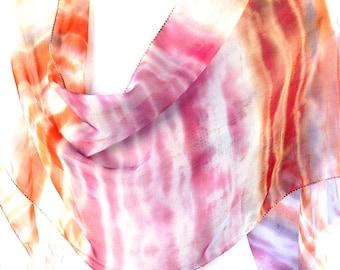 Tye Dye Scarf Chiffon scarf Hand painted Tie dye scarf Hand dyed silk scarf Indian silk scarf Tie dye clothing Silk scarf india KavitaKriti