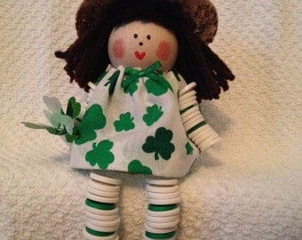 St. Patrick's Button Doll