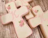Custom Order for Kristine C. - Cross Cookies