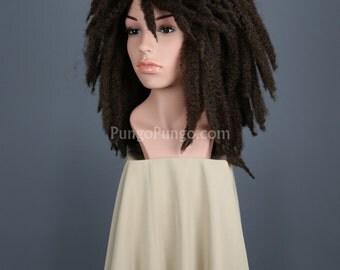 SALE! Brown Dreadlocks Wig / Curly Dreads, Long Hair / Halloween Costume Michonne The Walking Dead Cosplay Party Hippie Dreds Locs Rasta