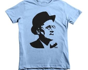 James Joyce Kids Tshirt, Bloomsday T-shirt, Irish Gifts, Ulysses Shirt, Nerdy Kids Tops, Geek Tshirt, Irish Writers, 2-12 Years, Made In USA