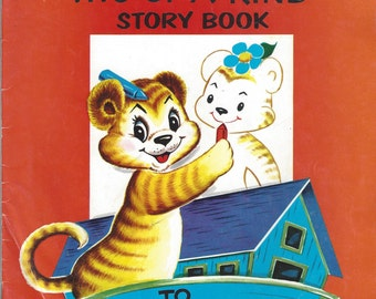 "Noah's Ark ""Two-of-a-Kind"" Vintage Story Book To Draw and Color, C1970s"