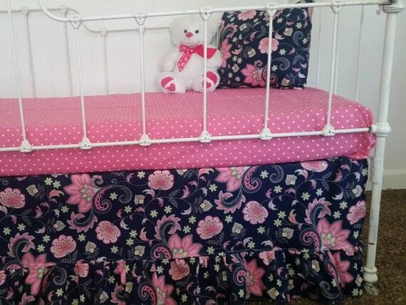 navy and pink baby girl crib bedding pink navy floral crib. Black Bedroom Furniture Sets. Home Design Ideas