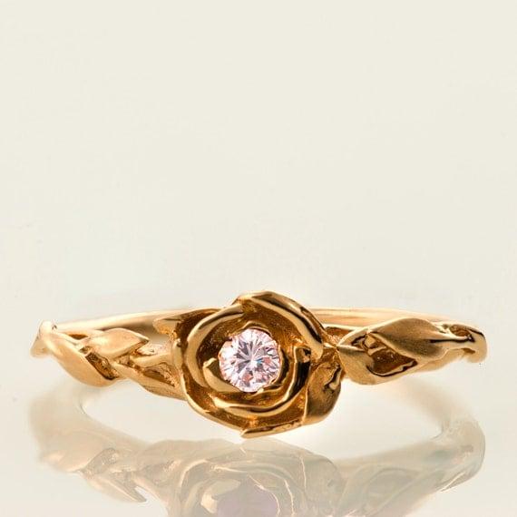 Rose Engagement Ring No 2 Rose Gold Engagement Ring Unique