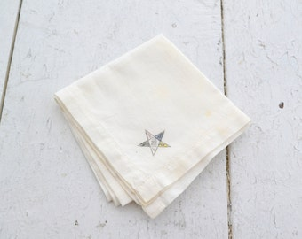 1950s Eastern Star Masonic Handkerchief