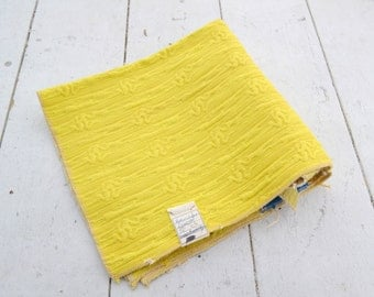 1970s Yellow Woven Fabric Sample