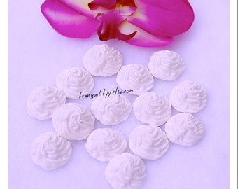 Decoden White Whipped Cream , SALE 8 Polyform Clay White Whip Dollop Toppers Decoden , Cell Phone, By: Tranquilityy