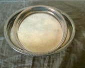 Two VINTAGE English silver plate serving trays. My vintage home.