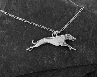 Sterling Silver Greyhound Dog Pendant on a Sterling Silver Chain.