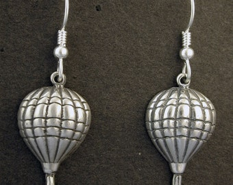 Sterling Silver Hot Air Balloon on Heavy Sterling Silver French Wires