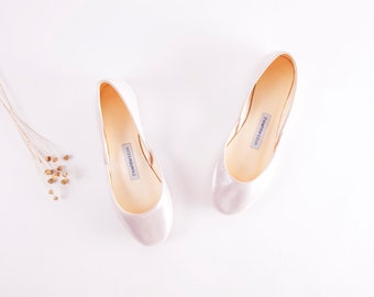 White Rose Ballet Flats | Limited Edition | Ballerina Style Shoes | White Rose ...Ready to Ship