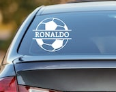 Soccer Decal, Personalized Soccer Decal, Soccer Car Decal, Futbol Decal, Futbol Sticker, Laptop Sticker, Laptop Decal, Football Sticker
